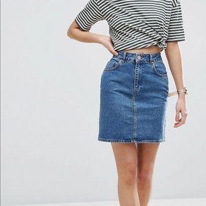 ASOS brand denim skirt